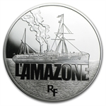 2013 10 Euro Silver Proof Great French Ships - L'Amazone